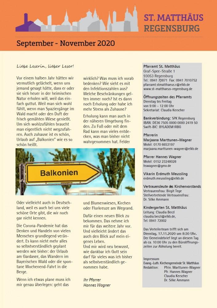 Gemeindebrief Sept-Nov 2020